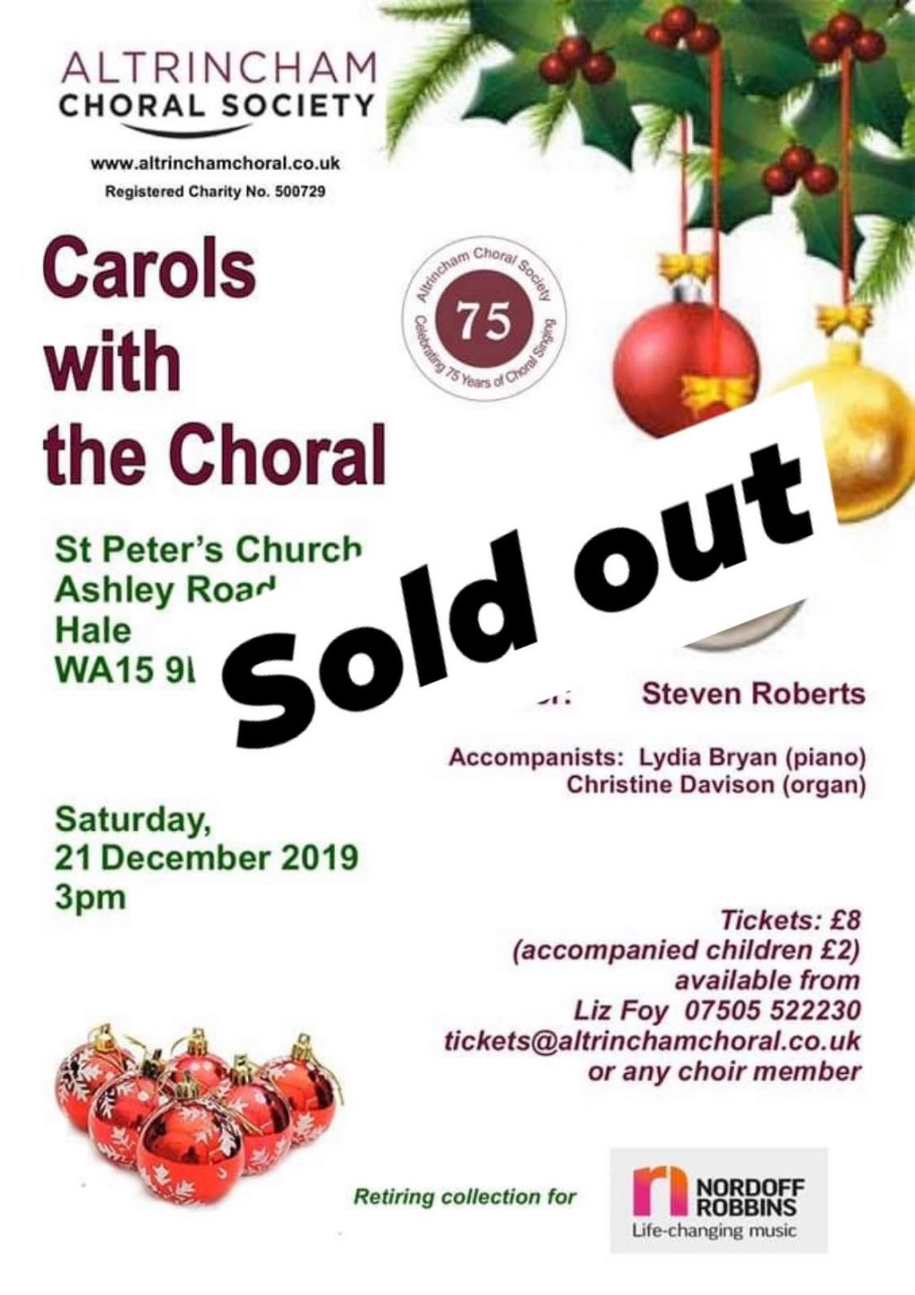 ACS Sold out carols 2019