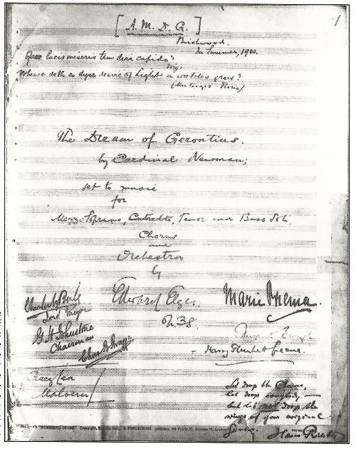 Dream of Gerontius original score